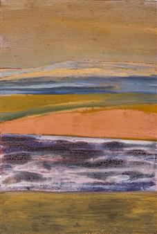 Israel Feldmann - Enlightened Rocks Pigment on Canvas, Paintings