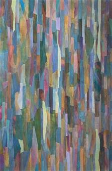 Ellen Globokar - Equatorial Collage on Canvas, Mixed Media