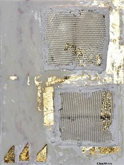 "Bulsby ""Buzz"" Duncan - Golden Gates Acrylic & Gold Leaf on Board, Mixed Media"