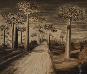 Fiorenza D'Orazi - Madacascar Oil on Canvas, Paintings