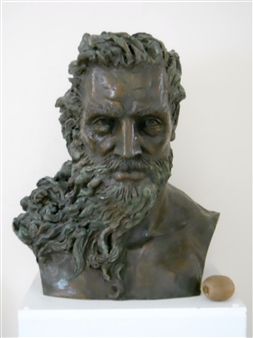 Irene Shcherbakova - Poseidon Bronze, Sculpture