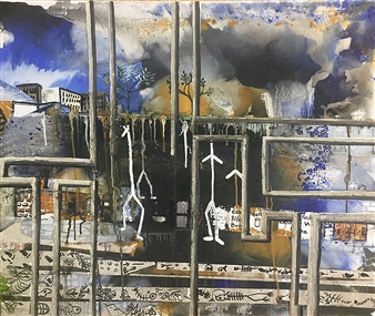Di - Apocalypse Acrylic & Oil on Canvas, Paintings