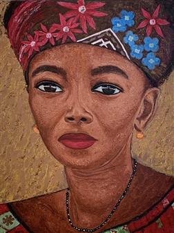 Hayam Elsayed - Wisdom Acrylic on Canvas, Paintings