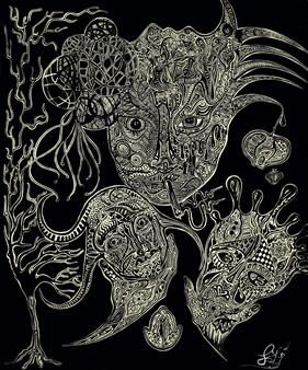 Pitanius - Gorgeous Silt Pen on Paper, Drawings