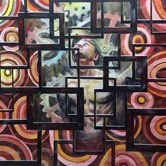 Don Kosta - Soul Windows Acrylic on Canvas, Paintings