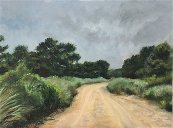John Britton - Napeague Dunes Oil on Canvas Panel, Paintings