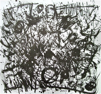 Ken Wada - Where is the Soul of the Trees? No.43 India Ink on Paper, Drawings