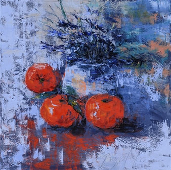 Olena Bogatska - Clementins Oil on Canvas, Paintings
