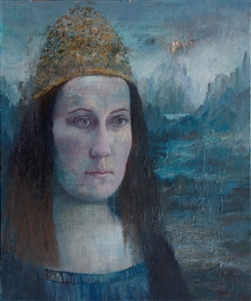 Christine Storey-Lange - Viaggio Egg Tempera, Oil Paint, & Oil Pastel on Canvas, Paintings