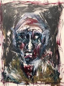Philippe Thélin - Selfie I Acrylic on Canvas, Paintings