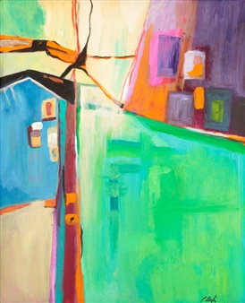 Pauline Rakis - Tenament Acrylic on Canvas, Paintings
