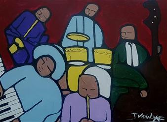 Julian Van Dyke - Quartet Oil on Canvas, Paintings