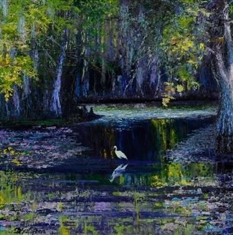 Deana Evstefeeva - Louisiana Swamp Oil on Canvas, Paintings