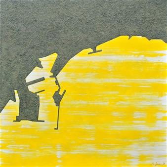 Marcos Joven - Málaga V Acrylic & Sand on Canvas, Mixed Media