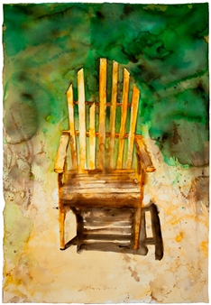 Fernando Ekman - Redneck Chair Watercolor on Paper, Paintings