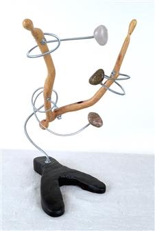 John Mark Luke - Tune 2 Mixed media-metal and wood, Sculpture