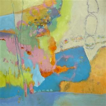 Jenny Shaw - Inner Peace Mixed Media on Canvas, Mixed Media