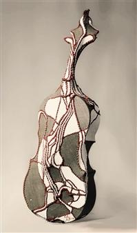 Heesu Choi - Wild Sound-C Acrylic on Sewing Jute, Sculpture