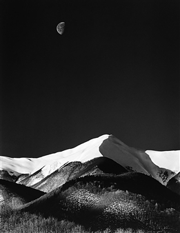 Antonio Biagiotti - Snow Covered Mountains and the Moon Photographic Print on Board, Photography