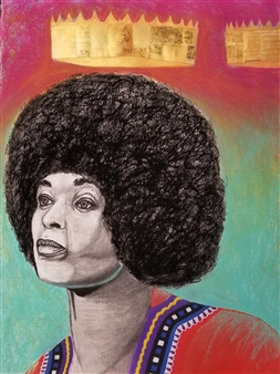 Markeith Woods - The Goal is to Earn Your Crowns Mixed Media on Canvas, Mixed Media