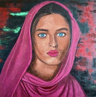 Hayam Elsayed - Beauty Unhindered Acrylic on Canvas, Paintings