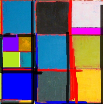 Silajit Ghosh - After Mondrian Digital Artwork on Canvas, Digital Art