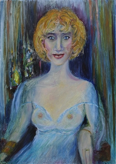 Oleg Kirnos - Woman Portrait. Morning Oil on Canvas, Paintings