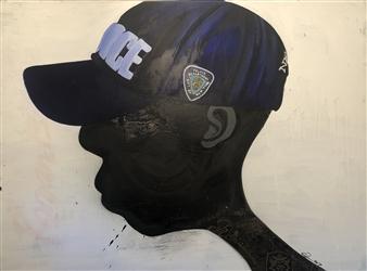 Craig Freeman - Son of G.O.D. Acrylic & Ink on Canvas, Paintings