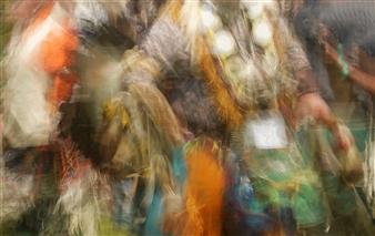Danny Johananoff - Indian Dance Colors Archival Pigment Print on Plexiglass, Photography