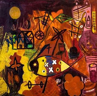 Carlos Arango (clos) - Happy! Oil on Canvas, Paintings