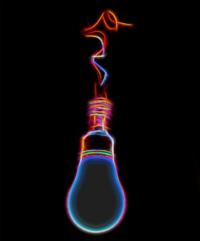 Howard Harris - Bright Idea Digital Print on Aluminum, Digital Art