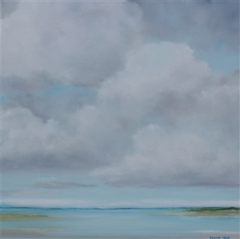 Elizabeth Sabine - Seascape No. 66 Oil on Canvas, Paintings
