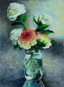 Deana Evstefeeva - Mason & Co Oil on Canvas, Paintings