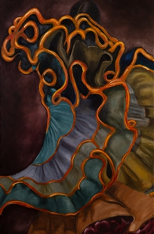 Britt-Marie Tidemand - We Spin it Around and Hopefully We Getting it Right Oil on Canvas, Paintings