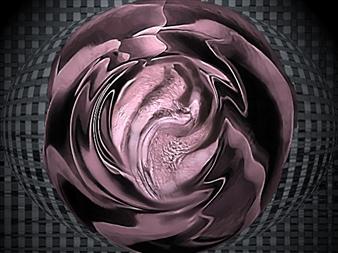 Rina Lazar - Molten Glass Digital Painting on Aluminum, Digital Art