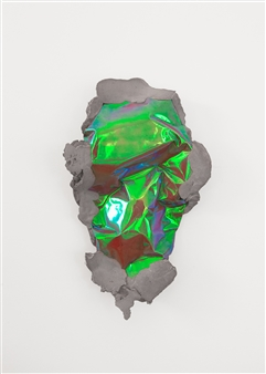 Mateusz von Motz - Prima Materia Energy Stone, Chromatic Green Mixed Media, Sculpture