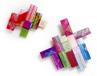 Yoshiko Kanai - Celebration Acrylic & Thread on Wood, Mixed Media