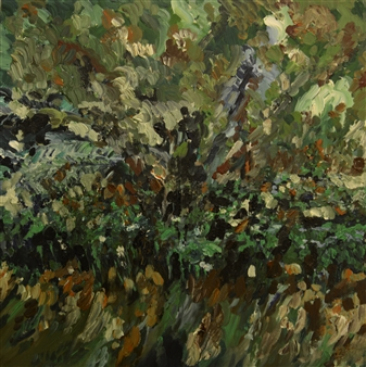 Caspar Baum - Botanical Garden 1 Oil & Acrylic on Canvas, Paintings