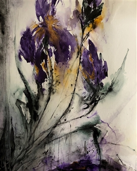 Dana Ingesson - Purity of Souls Watercolor on Paper, Paintings