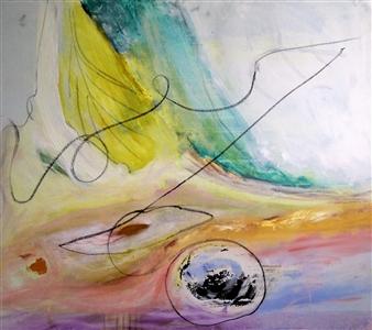Clea von Döhren - The Line Acrylic on Canvas, Paintings