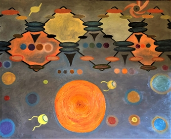 Merab Kardava - The Birth of Planet Oil on Canvas, Paintings