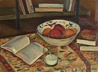 Hana Vater - Still Life with Milk_2 Oil on Canvas, Paintings