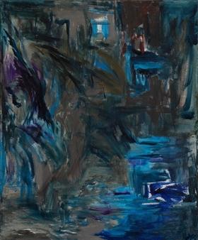Marion Kunstenaar - All Blue Acrylic on Canvas, Paintings
