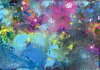 Jodi DeCrenza - Beauty of Bermuda #2 Acrylic on Canvas, Paintings