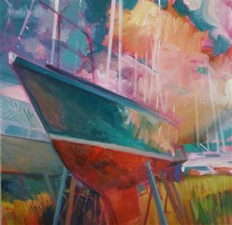 Julia Rowlands - Figurehead Oil on Canvas, Paintings