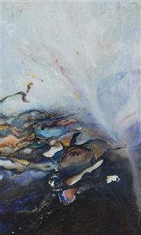 Charlotte De Baere - Divine Freedom Acrylic & Mixed Media on Canvas, Mixed Media