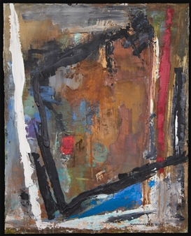 Ludwig Mannhalter - No. 16 Acrylic, Oil & Mixed Media on Canvas, Mixed Media