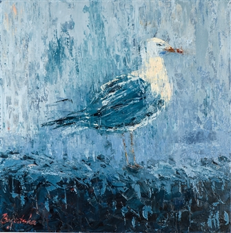 Olena Bogatska - The Storm Oil on Canvas, Paintings