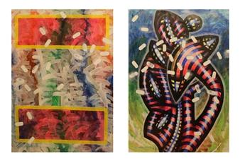 Koncept Feniks - Gardener_02, 1987-2015 Dispersion & Gouache on Paper, Paintings