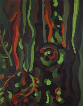 Claudia C Forero - Bostonian Tree II. Flora and Fauna. Acrylic on Canvas, Paintings